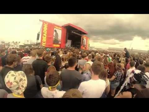 Testing out the kit, Reading Festival 2014