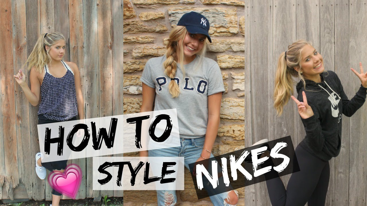 HOW TO STYLE NIKE SHOES ⎪Cute & Fashionable