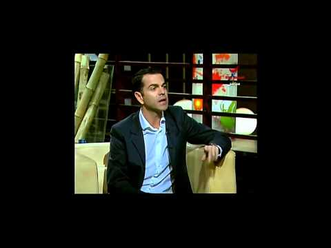 Marco Magoa. Interview at Rotana Television in Cairo, Egypt.