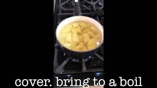 Mashed potatoes. Step 2.