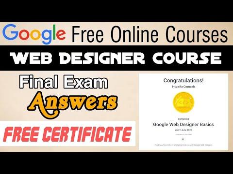 Google Web Designer Free Certification Course How To Become Google Certified Web Designer In 2020 Youtube
