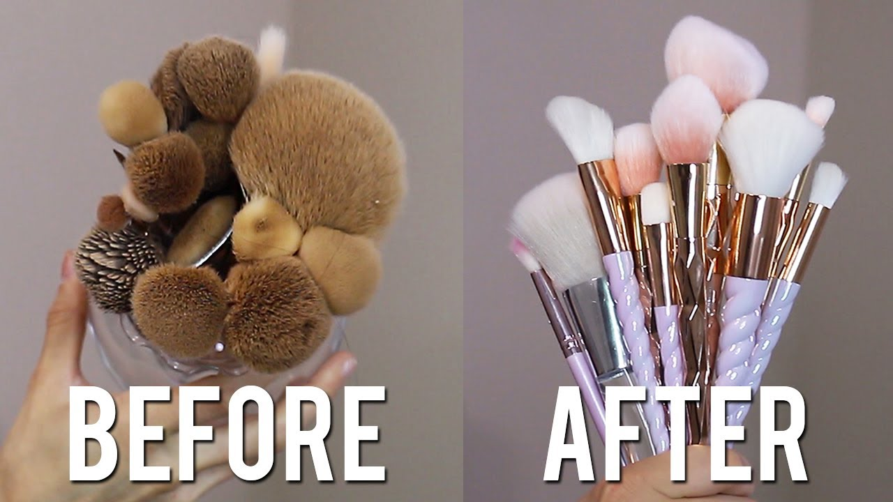 How To Clean Makeup Brushes Youtube