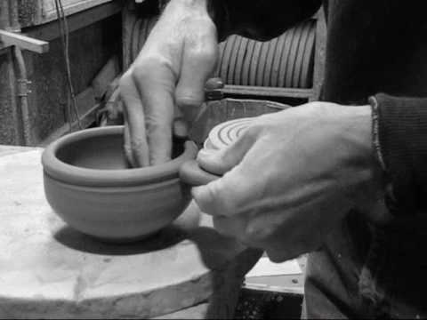 Putting a hand built handle on a soup bowl