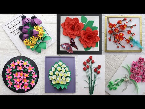 wall-hanging-craft-ideas-flowers-easy-|-wall-hanging-painting