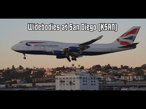 [HD] Widebody Planespotting at San Diego International Airport (KSAN) Compilation
