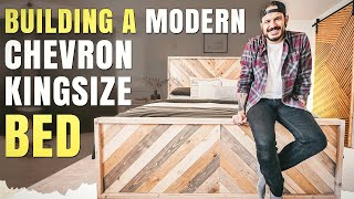 Building a Modern Chevron King size Bed