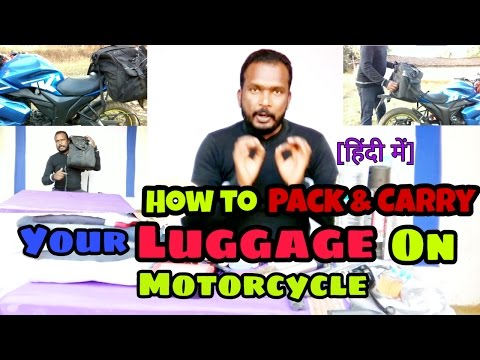 ViaTerra Claw Saddlebag Review / How to Pack and carry your luggage on Long Ride? [Hindi]