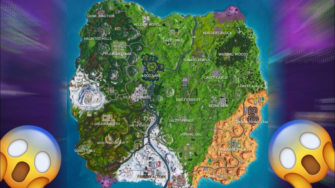 Mapa Temporada 8 Fortnite.Como Podria Quedar El Mapa En La Temporada 8 Fortnite Battle