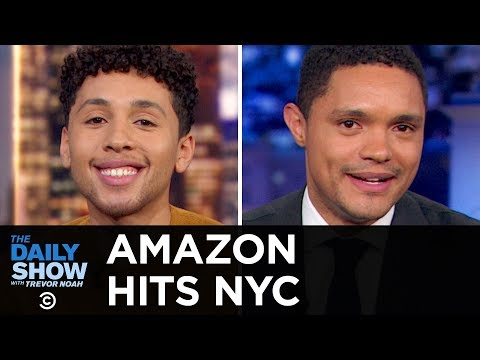 Trevor and Jaboukie Young-White Discuss Amazon's Move to NYC | The Daily Show