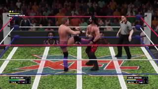 WWE 2K18 Seth Rollins vs Chris Jericho Gameplay