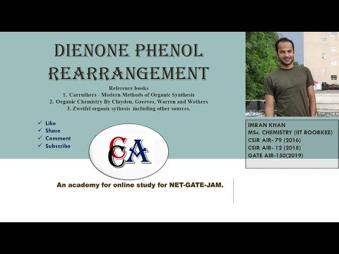 Dienone Phenol Rearrangement IIT-JAM || CSIR-NET || GATE | BHU ||