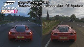 Forza Horizon 4 - Ferrari 488 GTB Sound Comparison - Before and After December 13 Update