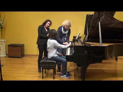 23.02.2018 Mira Marchenko's master-classes. Christan Won. Schmitt Music, Kansas City, USA.