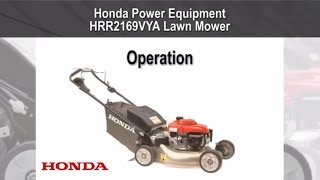 HRR2169VYA Lawn Mower Operation