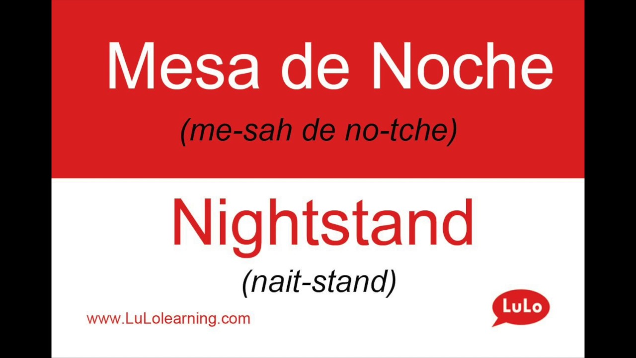 Como Se Dice Mesa En Inglés Cómo Se Dice Mesa De Noche En Inglés How To Say Nightstand In Spanish