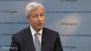 JPM CEO Dimon Says Trump Woke Up U.S. 'Animal Spirits'