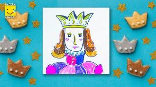Как нарисовать принца? Пошаговый урок рисования пастелью для детей