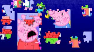 Peppa Pig Daddy Pig and Spider Mr Skinny Legs Fun Puzzle Video For Kids With Nursery Rhymes