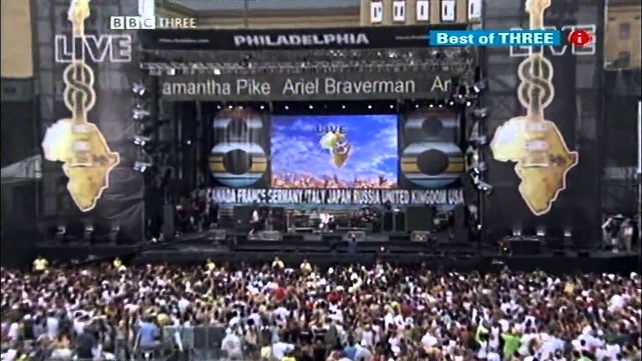 Linkin Park feat. Jay-Z - Dirt Off Your Shoulder/LFY (Live 8: Philadelphia 2005) - YouTube