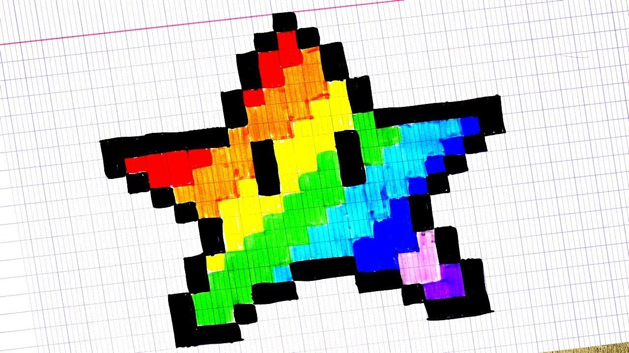 Etoiles Arc En Ciel En Pixel Art Youtube