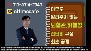 아무도 알려주지 않는 뇌혈관,허혈성 진단비 구성 최초공개