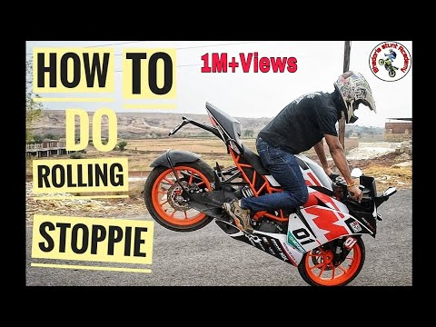 How To Do Rolling Stoppie (3 Easy Steps) In Hindi