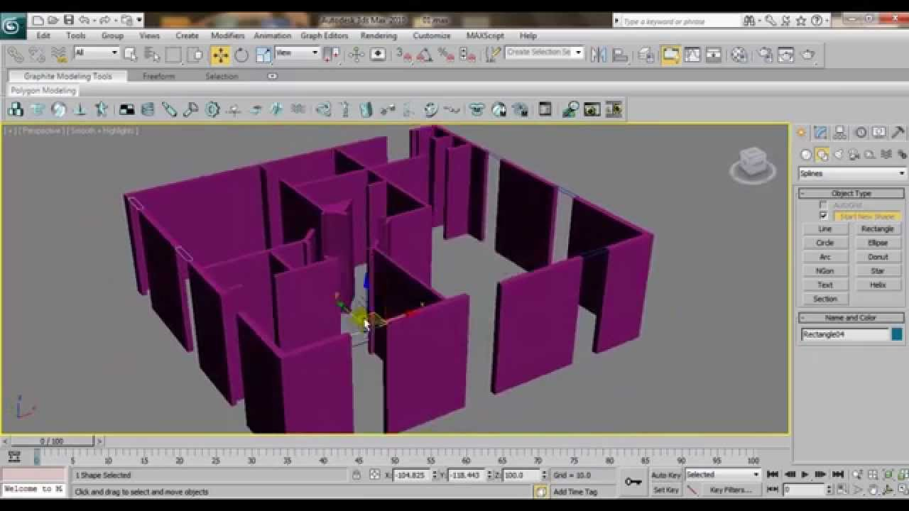 3ds max house modeling tutorial interior building wall design using