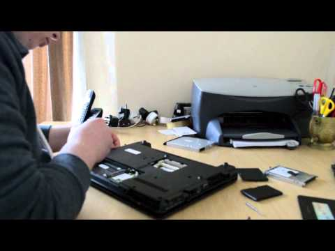 HP 6735s fan dusting, laptop disassembly, take apart to clean the fan
