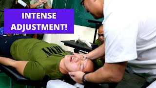 *SHOCKING SCREAMS* BY ARMY VOLLEYBALL ATHLETE | chiropractic adjustment by Philippines Chiropractor