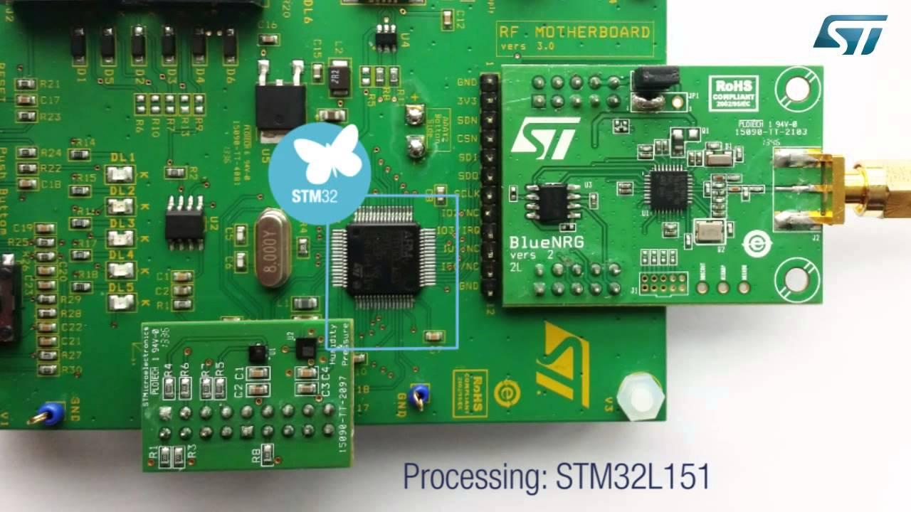 STMicroelectronics STEVAL-IDB002V1 Bluetooth Low Energy demonstration kit
