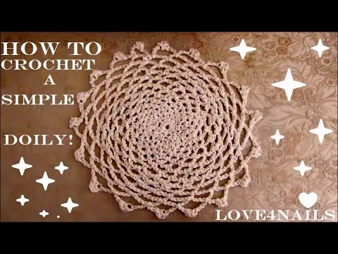 How To Crochet a Simple Classic Doily Tutorial - YouTube