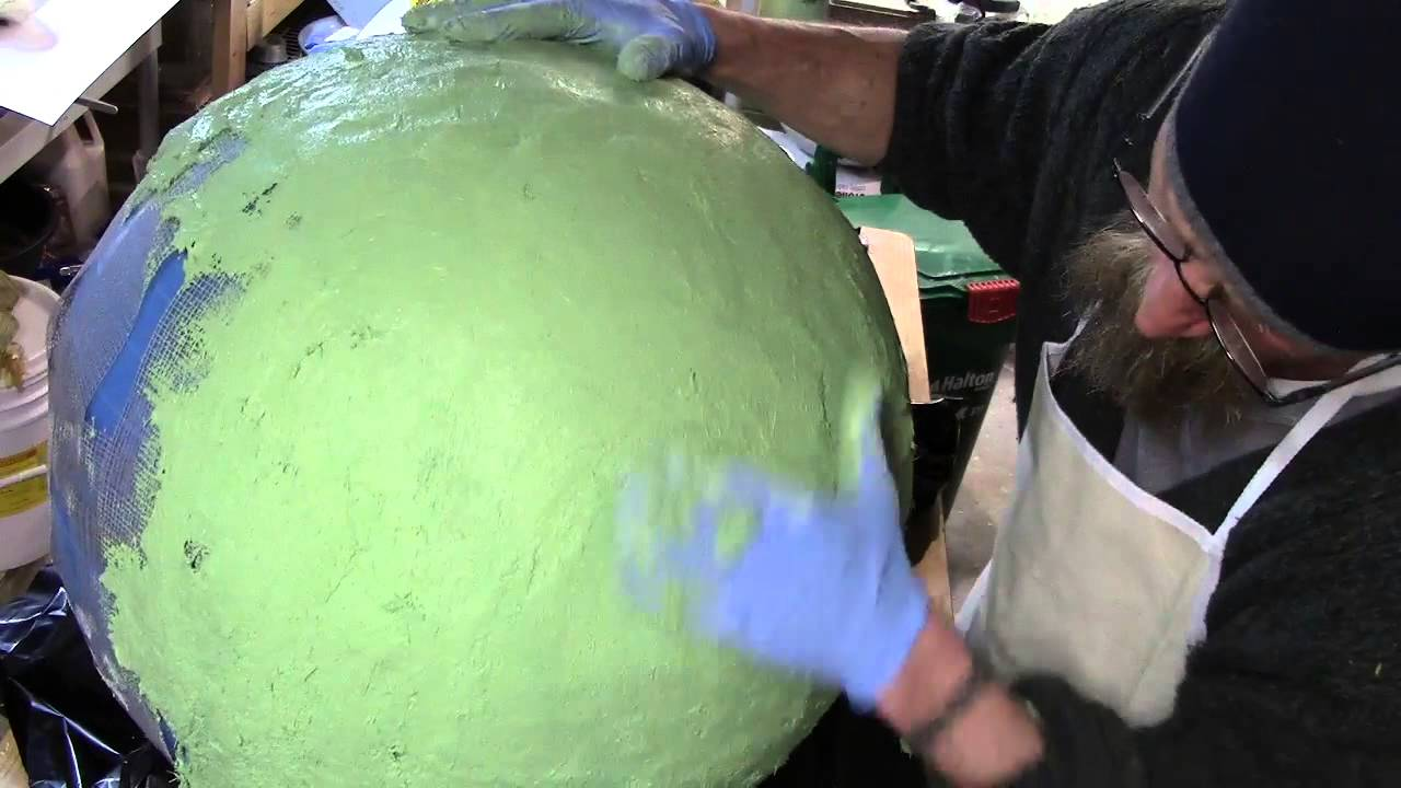 Making A Hollow QuikWall Concrete Ball Sphere   Diymolds.com   YouTube
