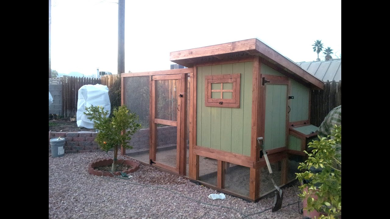 how to build a backyard urban chicken coop youtube