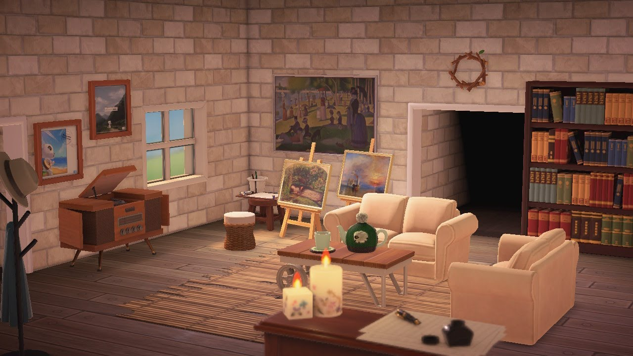 Cottage Core Living Room | Interior Design | Animal ... on Animal Crossing New Horizons Living Room Designs  id=17954