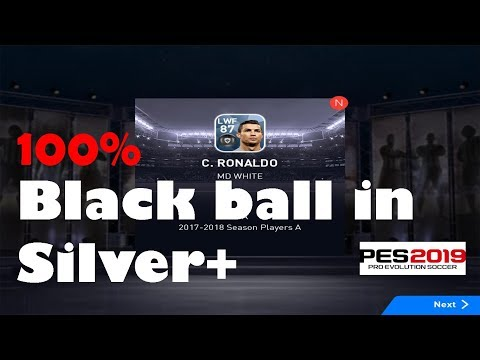 How to get black ball in silver plus pack pes 2019 || Black ball trick pes 2019 || silver plus pack