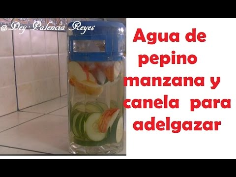 Agua de pepino, manzana y canela para adelgazar, quemar