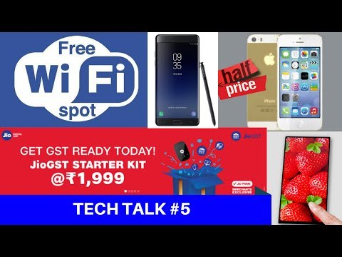 TechNews #5 - Apple Price Cut in India, Jio GST Offer, Facebook FREE WiFi, Google Triangle