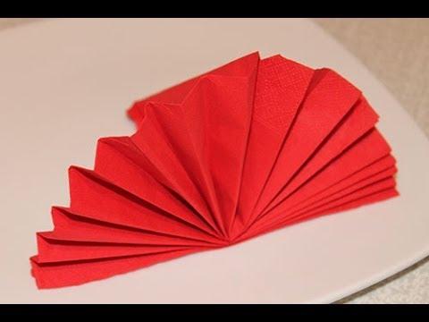 схемы веер из бумажных салфеток