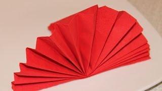 Как сложить салфетки для праздничного стола(Как красиво сложить салфетки для праздничного стола., 2014-01-29T23:58:36.000Z)