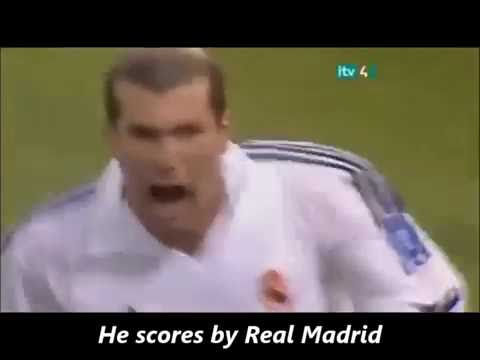 Zidane Champions league goal.2002. Spanish radio show host goes crazy.