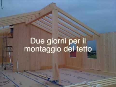 Tempi di costruzione di una casa in legno prefabbricata youtube - Tempi costruzione casa ...
