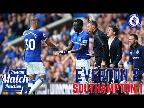 EVERTON 2-1 SOUTHAMPTON | SILVA GETS FIRST WIN FOR EVERTON | MATCH REACTION