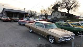 Classic Muscle Car Lot Hotrods Maple Motors Full Walk