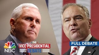 the vice presidential debate tim kaine and mike pence full debate   nbc news