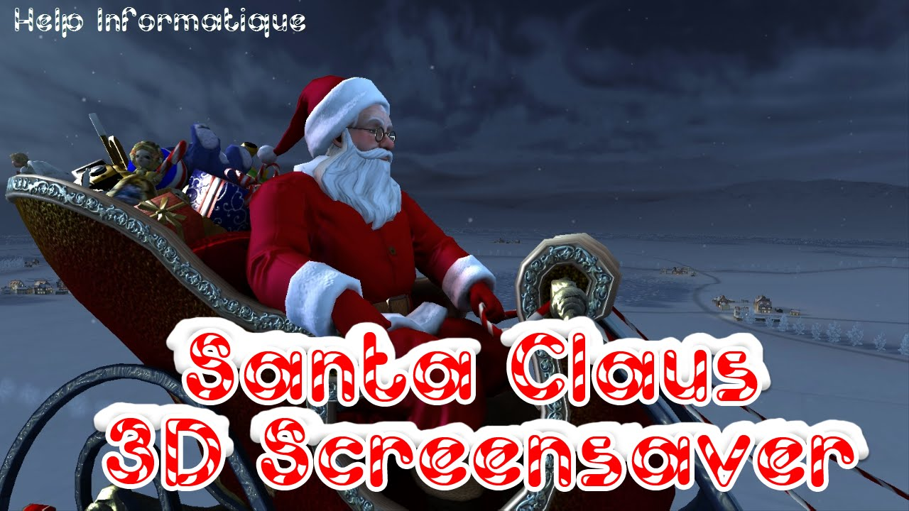 Hd Santa Claus 3d Screensaver Youtube