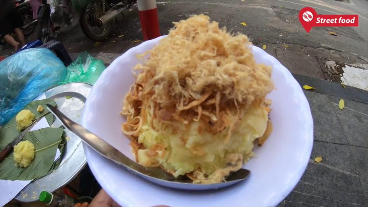 Quán xôi xéo vỉa hè đông nghịt khách hơn 20 năm ở Hà Nội- Street Food