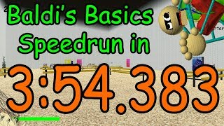 [WR] Baldi's Basics Any% Speedrun in 3:54.383