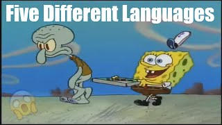 krusty krab pizza song five different languages