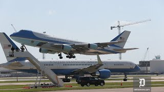Air Force 1 & 2 cross paths while leaving Dallas after memorial