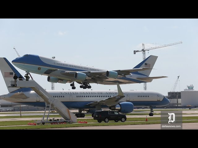 Air Force 1 & 2 cross paths while leaving Dallas after memorial ...